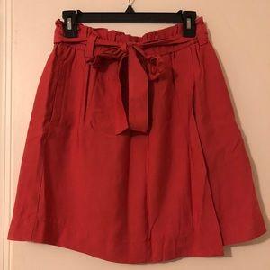 Paper Bag Faux Wrap Skirt